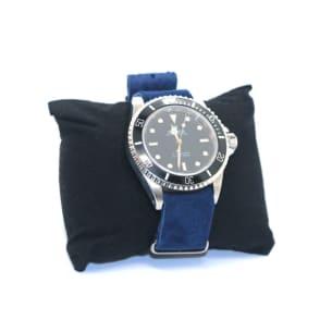 Bracelet Nato en Daim Bleu