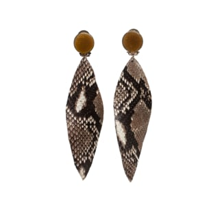 Elegant Leaf Python Earrings