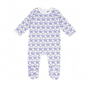 Baby pyjamas with blue tigers