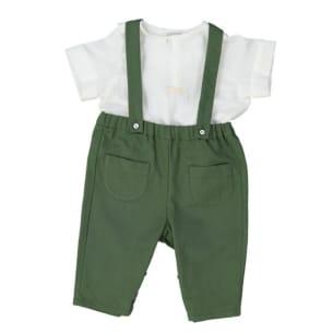 Pantalon Bébé Surfeur - Moss Green - Recyclé- PS