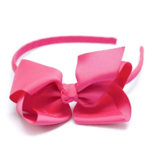 Bow Headband Shocking Pink