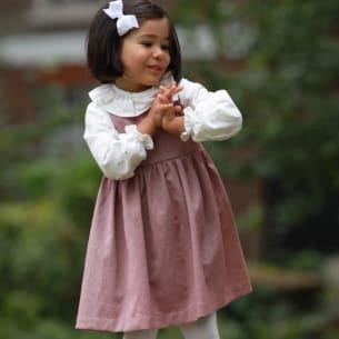 Victoria Pinafore Dress 100% Cotton 1Y-8Y PS