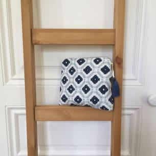 Trousses block print KALISTE bleu