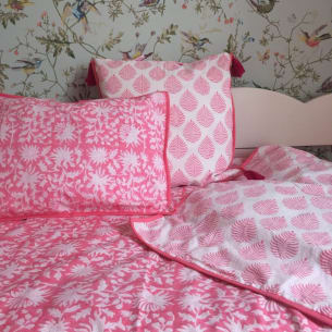 Housse de Couette FLORA Rose Lit Simple