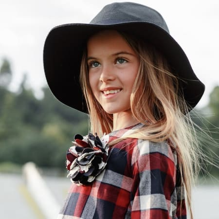 Como Flannel Plaid Dress