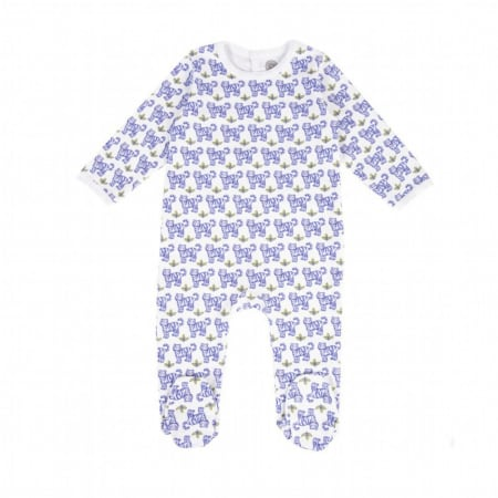 Baby pyjamas with blue tigers