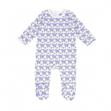 Pyjama bébé imprimé tigre bleu
