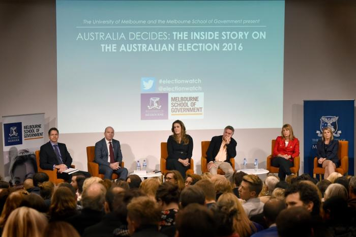 Australia Decides panel discussion hosted by the Melbourne School of Government