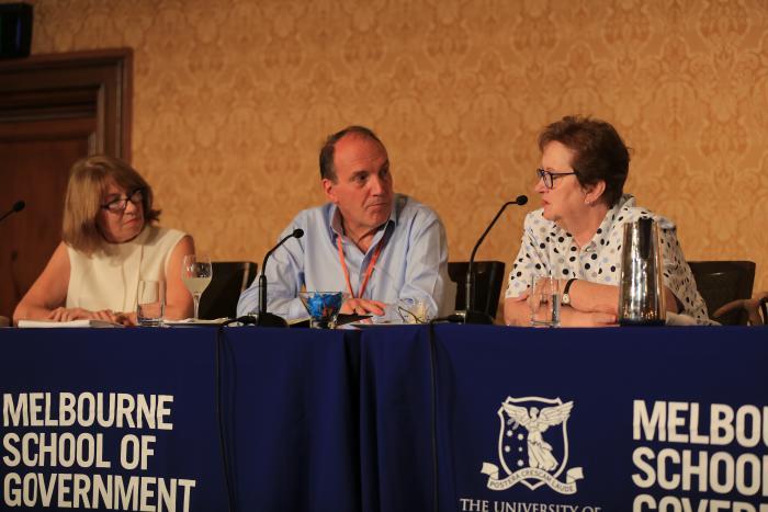 L-R: Maxine McKew, Simon Hughes, Amanda Vanstone