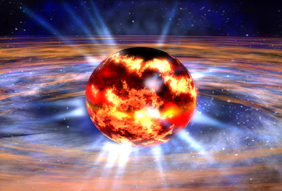 A neutron star, as imagined by NASA.