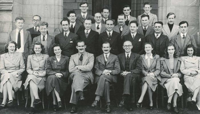 Professor Oeser (front row, fifth from right) and his colleagues from the Psychology Department at the University of Melbourne. Picture: University of Melbourne