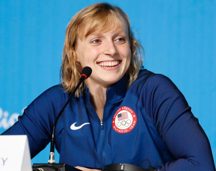 "One commentator said Katie Ledecky was swimming ""like a man"". Picture: Fernando Frazão/Agência Brasil"