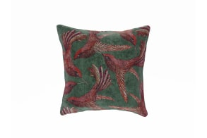 Paradise Bird Sage Cushion