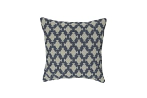 Tribal Tile Denim Cushion