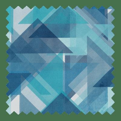Retro Triangles Blue