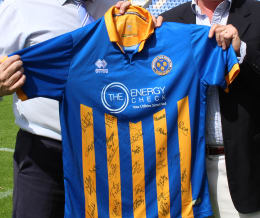 CHANCE TO WIN: Signed Shrewsbury Town home shirt