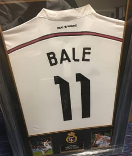 CHANCE TO WIN - Signed and Framed Gareth Bale Shirt