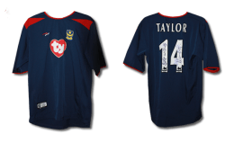 2003/4 replica away shirt signed by Matthew Taylor