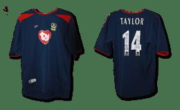 2003/4 replica away shirt signed by Matthew Taylor