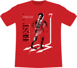 "OFFICIAL GEORGE BEST: THE MOVIE ""RED DEVIL"" T-SHIRT + CERTIFICATE OF CONTRIBUTION"