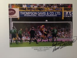 "Signed & Framed Print : David Wetherall's Epic ""Staying Up"" Goal!"