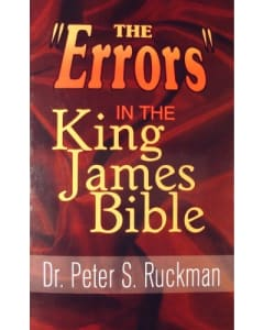 """Dr. Peter S. Ruckman - The """"Errors"""" in the King James Bible - RK-96"""