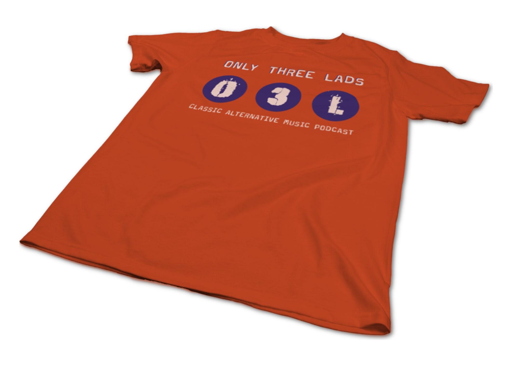Only three lads o3l logo design  orange  1620172738