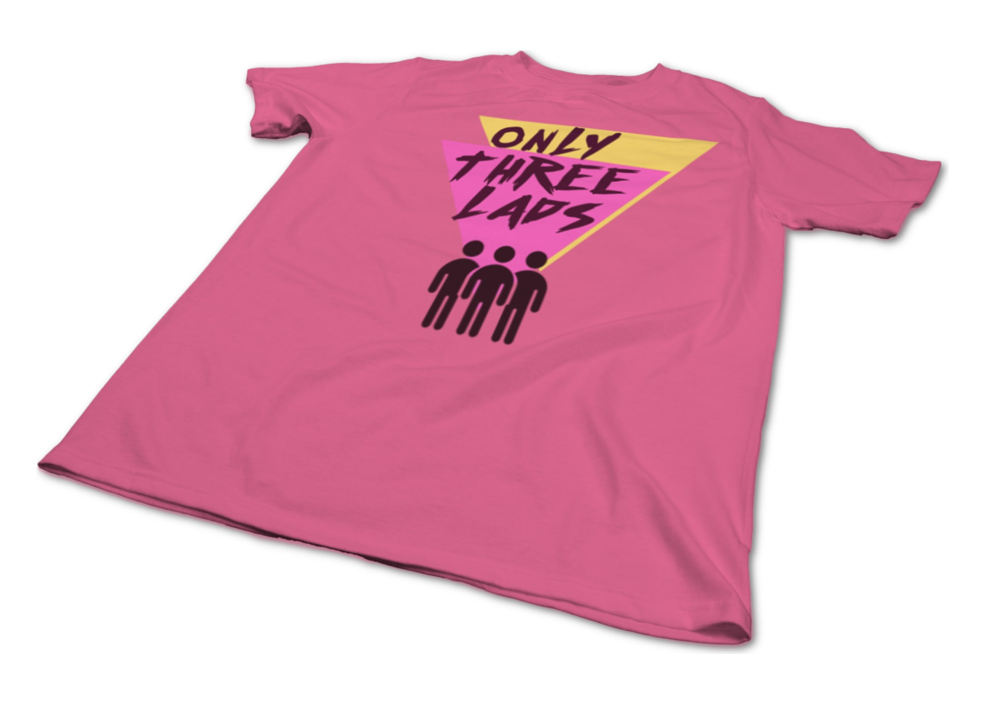 Only three lads o3l   triangles  pink  1579510203