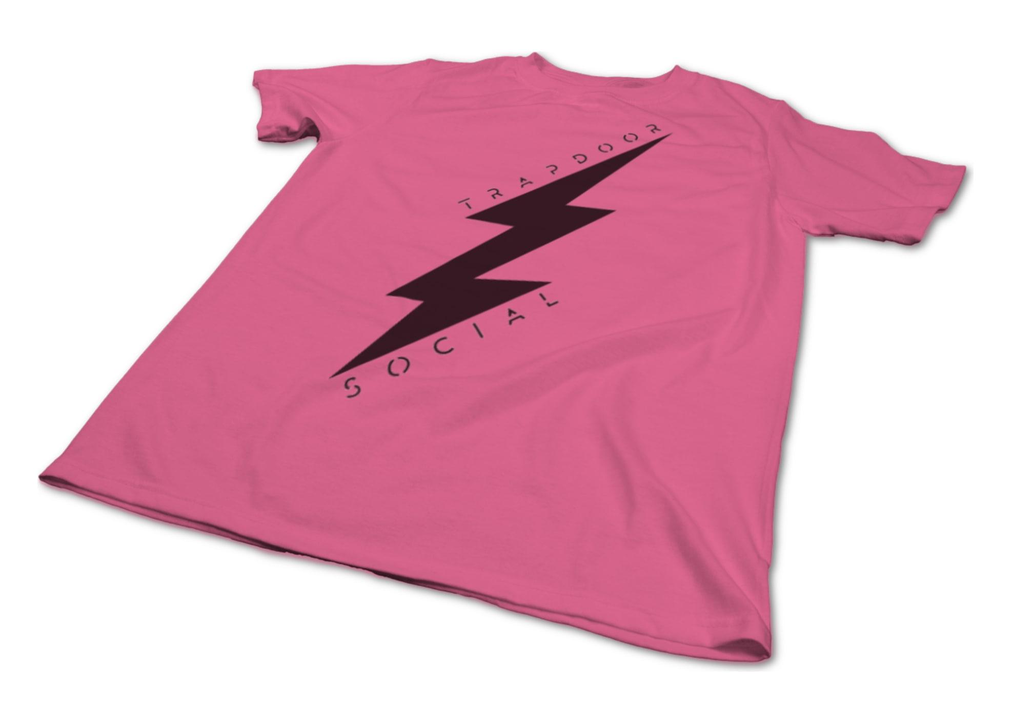 Trapdoor social lightning bolt   pink black 1476752770