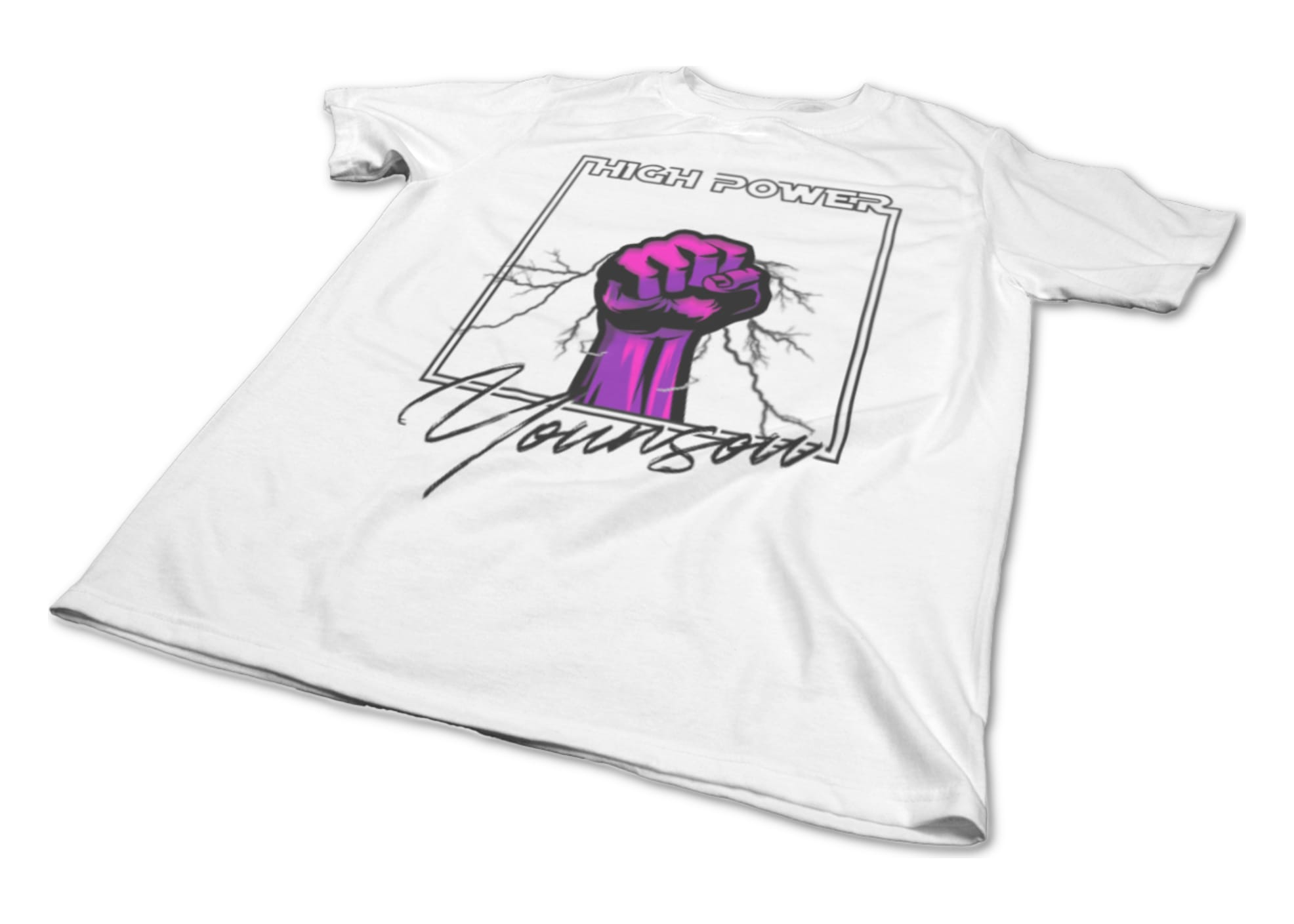 Younsou high power pink black on white  1625547800