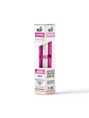 CBDfx Sour Diesel CBD Disposable Terpenes Vape Pen Kit - 50mg