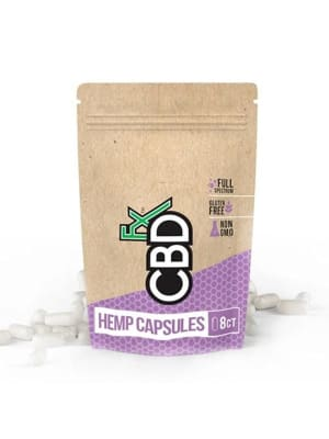 CBDfx Capsules Pouch - 8 Pack - 200 mg