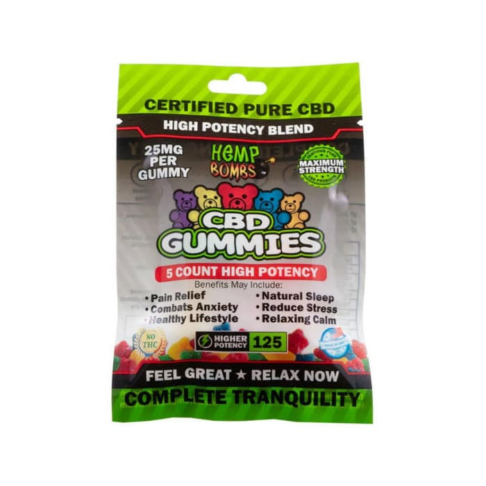 Hemp Bombs High Potency CBD Gummies