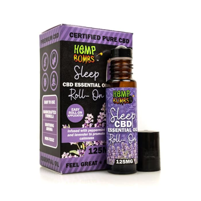 Hemp Bombs CBD Essential Oil Roller - Sleep Blend