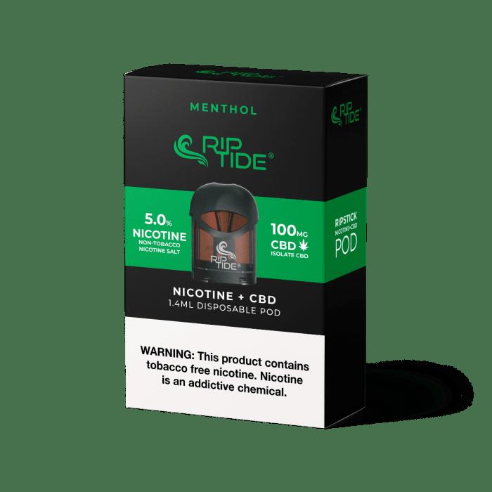 Riptide Menthol TFN Salt & CBD Vape Pod - (1 Pack)