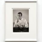 Peter Hujar, David Wojnarowicz Eating an Apple (Dianne B Christmas catalogue 1983), 1983, B&W print, print size: 9 5/8 × 7 1/2 in., (24.13 × 19.05 cm), paper size: 14 1/8 x 10 1/8 in., (36.1 x 25.65 cm)