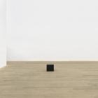 Stephen Lichty, Untitled, 2014, black oxidized steel and basalt, 9 × 10 × 10 in.