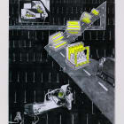 Deville Cohen, Low Clearance, 2010, mixed media, 1 of 7, 46 1/2 x 35 in.