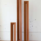 Stephen Lichty, Untitled Columns (series), 2013, carved mahogany, dimensions variable