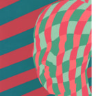 Sascha Braunig, Slats, 2012, silkscreen on paper, 11 x 8 in., edition of 20
