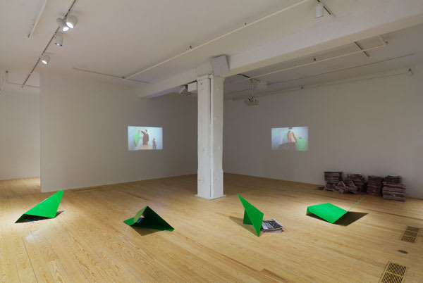 Lucas Ajemian & Julien Bismuth, 2009, installation view, Foxy Production, New York