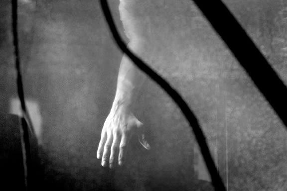 Close up of Prisoners Hand- Reenactment