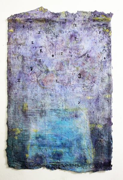 """Sing, Sing, Sing, Sing, Sing, Sing, A Song"" Oil on Wool Carpet- 40"" x 72"""