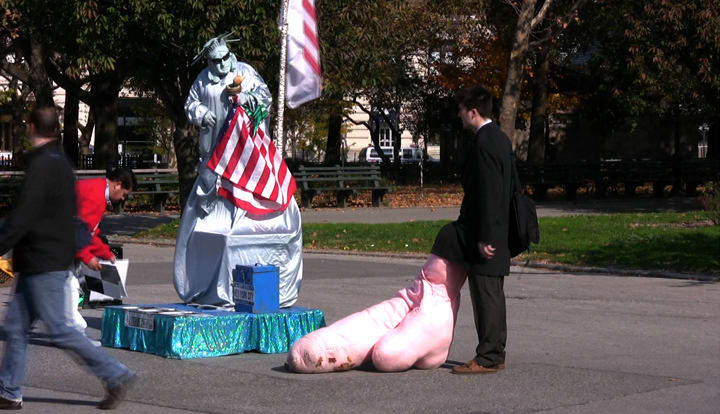 Big Dick in Battery Park