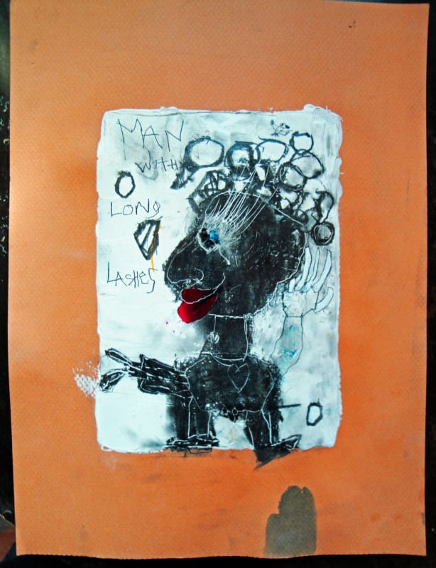 Man with Long Lashes, by Richard Campiglio 8x10in work on paper 2012 (sold)
