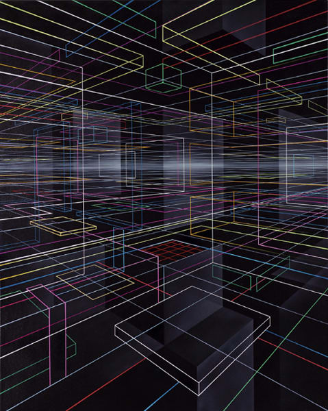 Lines of Light Arranged in the Non Space of the Human Mind