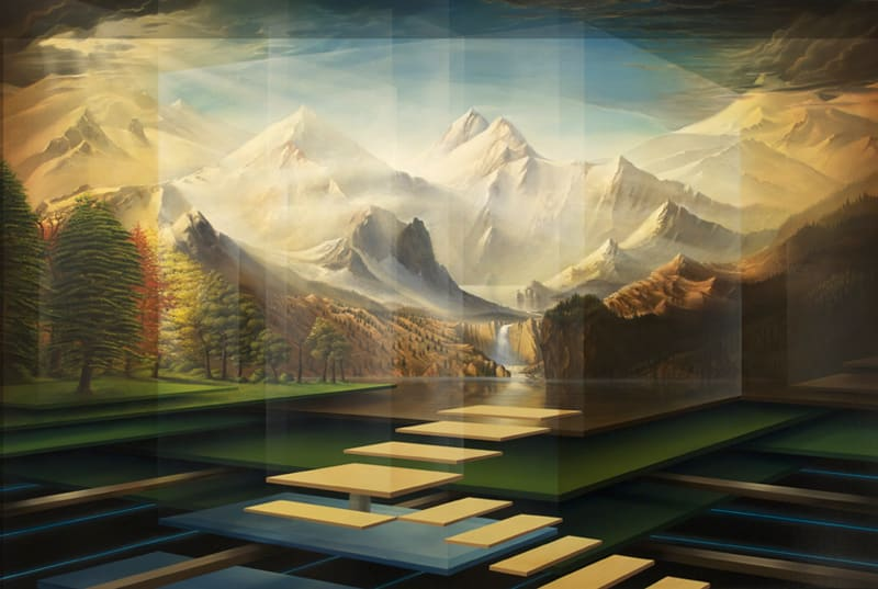 Taking Flight Into the Mountains-After Bierstadt