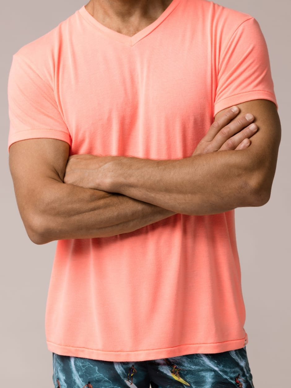 Sol Angeles Pink V Neck and Trunks