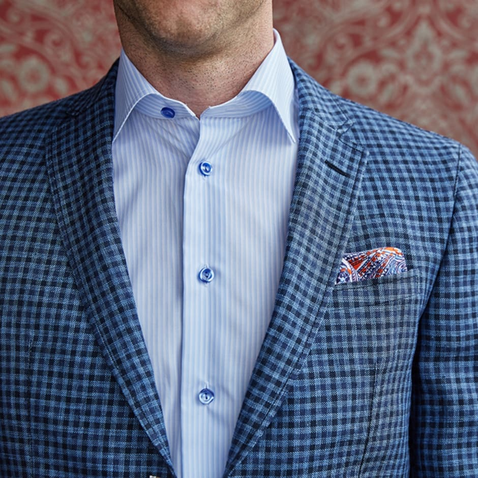 Pattered suit shirt combo