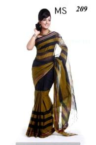 Pure Cotton Tangail Saree-MS-209